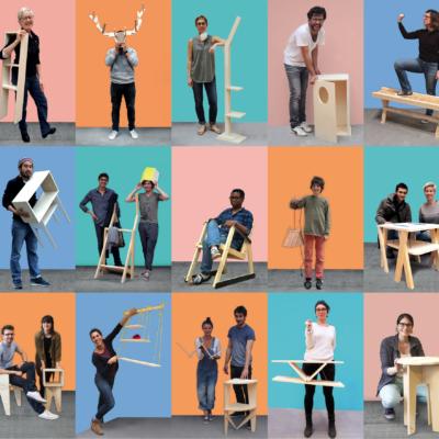 Ateliers itinérants de création et de construction en matériaux réemployés